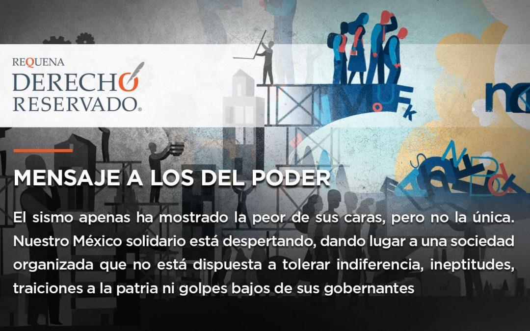 Mensaje a los del poder | Derecho Reservado | Carlos Requena