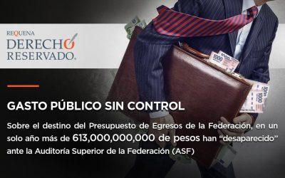 Gasto público sin control