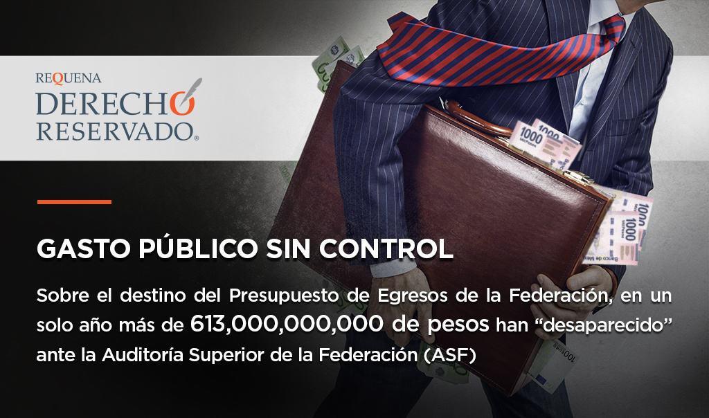 Gasto público sin control | Derecho Reservado | Abogado Carlos Requena