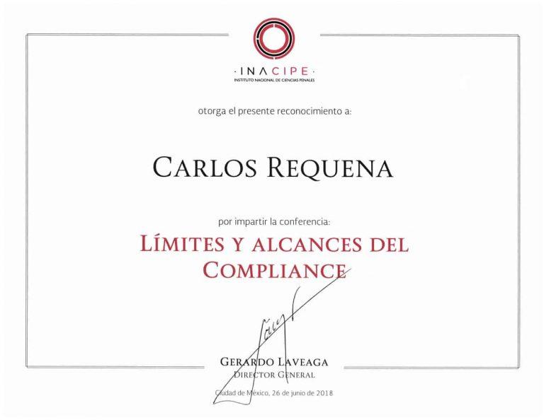 Límites y Alcances del Compliance | INACIPE | #CompliancePenal #ResponsabilidadPenaldeEmpresa #LeyesParaTuBien #AbogadoCarlosRequena