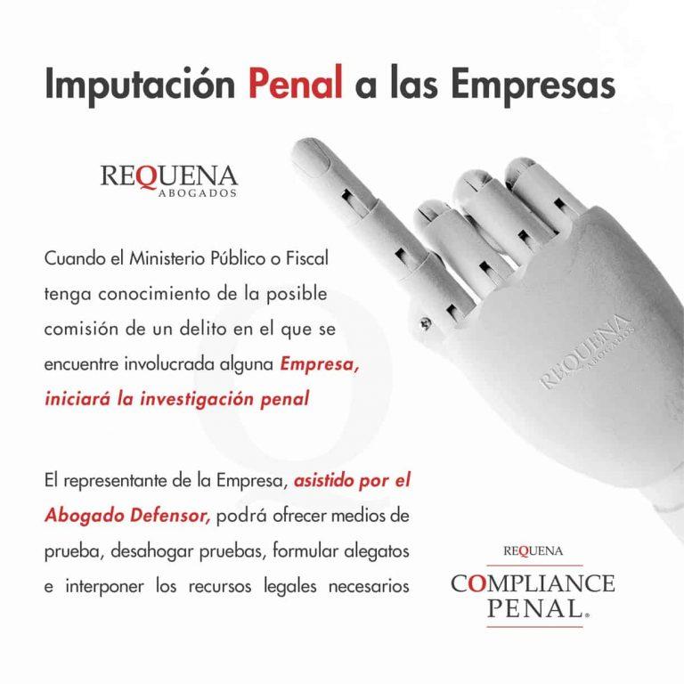 Imputación Penal a las Empresas | Carlos Requena | #Compliance #CompliancePenal #Cumplimiento #Empresas #Legalidad #Regulatorio