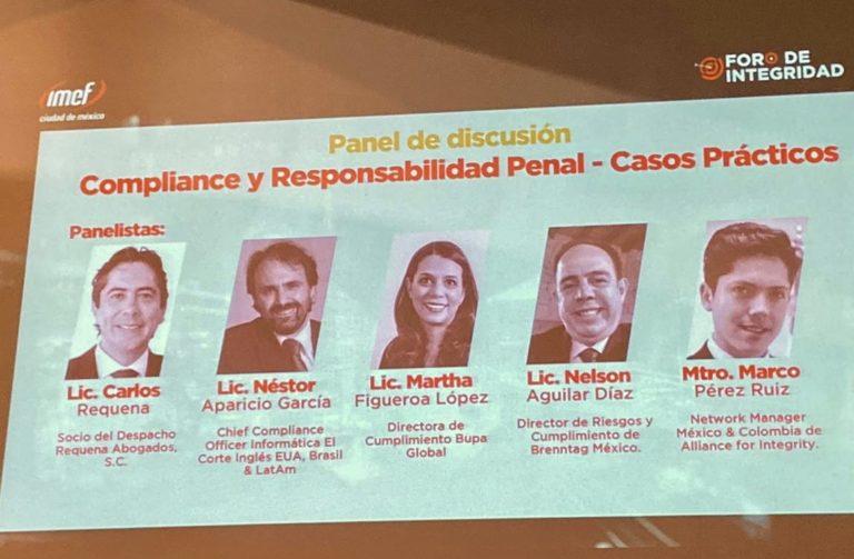 IMEF - Foro de Integridad - Abogado Carlos Requena